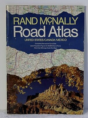 Vintage Rand McNally Road Atlas Travel United States Canada Mexico 1058