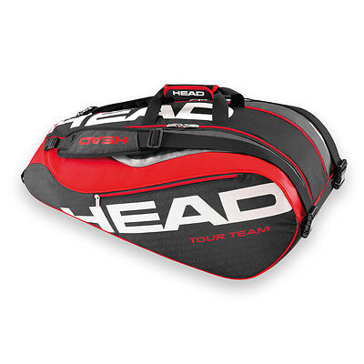 *NEW* Head Tour Team Monstercombi 9pk Black/Red Tennis Bag