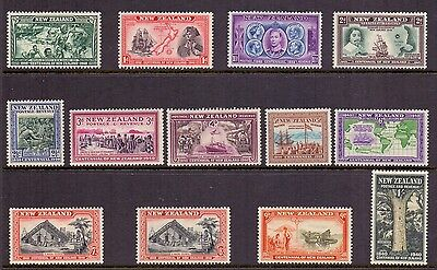 New Zealand. Set of 13 LH mint Centenary stamps. 1940. SG 613 to 625