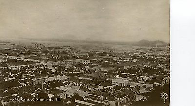 Brazil Brasil Santos - Panorama III 1910 real photo sepia postcard