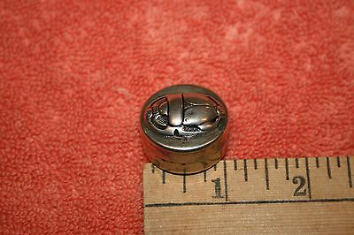 Very Old Foreign Hallmarks 925 Silver Scarab Shaped Pill Box Egyptian?
