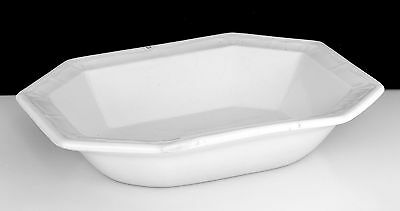 Antique 1853 White Ironstone Sydenham 8 sided bowl T&R Boote EXCELLENT