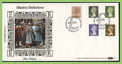 G.B. 1984 five definitive values on Benham First Day Cover