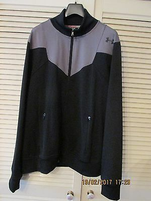 Under Armour Mens Black And Grey Training Jacket Top Size Extra Large