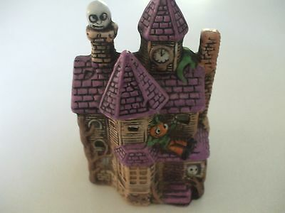 """haunted house candle holder with tea light candle 5""""x3-1/2"""""""