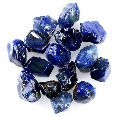 UNHEATED! 15pcs, 18.15ct NATURAL100% UNHEATED BLUE SAPPHIRE ROUGH SPECIMEN NR!