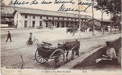 France Dax - La Gare du Midi old used postcard