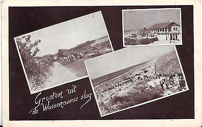 Netherlands Wassenaar - Slag 1951 triple vignette real photo postcard