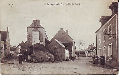 France Quincy - Le Bas du Bourg old used postcard