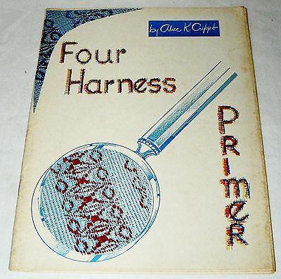 Four Harness Primer by Alice Cripps 30 pgs. loom weaving Maysville Carpet KY