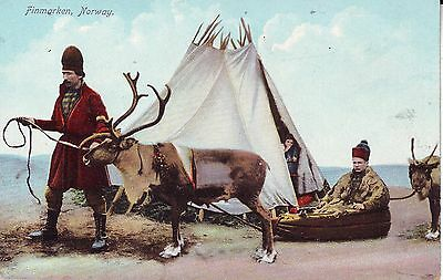 Norway Norge Finmarken - Lapps unused undivided back postcard