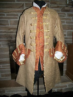 Custom Made Renaissance Pirate Jack Sparrow POTC colonial any style frock coat