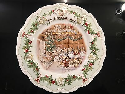 "Royal Doulton Brambly Hedge 8"" Plate ""the Entertainment"""