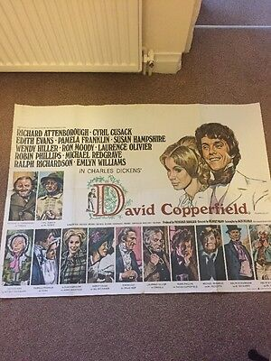 DAVID COPPERFIELD (1969) Quad Movie Poster - Richard Attenborough, Cyril Cusack
