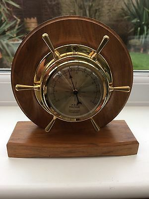 Brass Nautical Ships Clock Style Thermometer