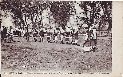 Macedonia Monastir - Country Dance old France published postcard