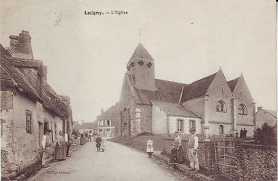 France Luigny - L'Eglise 1909 cover mailed postcard
