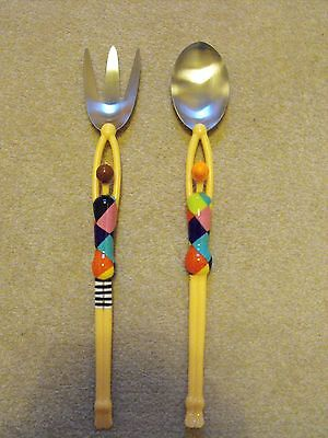 Pylones French Design Pair in Swimwear Salad Serving Spoons Set Boxed new