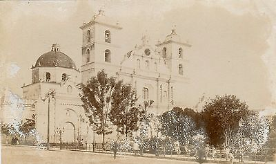 Honduras Tegucigalpa - St. Michael the Archangel Cathedral old real photo sepia
