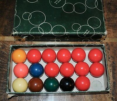 """Aramith Snooker Balls Set - Size 1 And 5/8"""" - 10 Reds Set - Made In Belgium"""