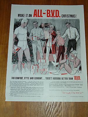 Vintage 1967 BVD B.V.D. UNDERWEAR  Original Advertisement  PRINT AD