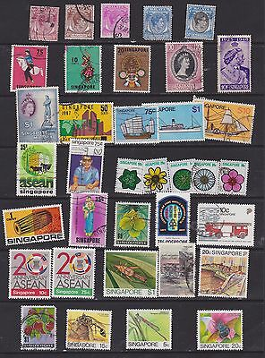 small collection of Singapore stamps