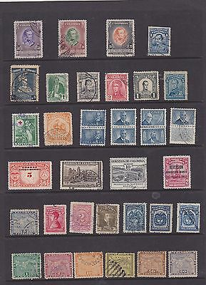 fine mix of 75 Columbian stamps   2 scans