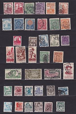 fine mix of 60 Mexican stamps   2 scans