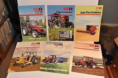 Case IH tractor & combine brochure collection x 6 items all late 80s/early 90s
