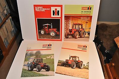 Case IH & International 856 956 & 1056 XL tractor brochure collection x 4 items