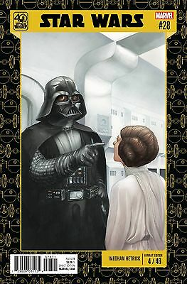 Star Wars #28 Marvel Comics 2017 Meghan Hetrick 40th Anniversary Variant Cover