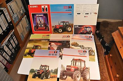 IH & Case IH 85 Series tractor brochure collection x 8 items farming