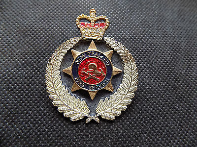 Vintage New Zealand Fire Brigade Enamel Cap Badge