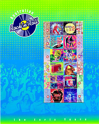 Australia 1998 Rock'n'Roll The Early Years Presentation Pack  MNH Stamps