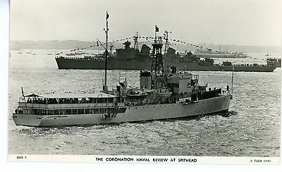 Royal Navy, Original Photo, HMS Surprise, Frigate,  Post Card, 1953, Coronation