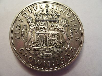 1937 Great Britain Silver Crown, great details