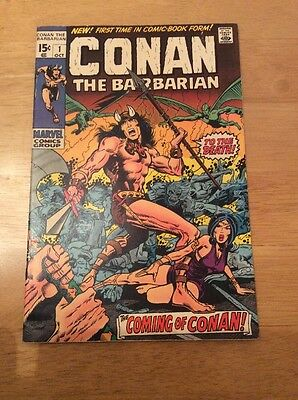 Conan the Barbarian No.1 Oct 1970 - Origin Barry Smith VF- (7.5)