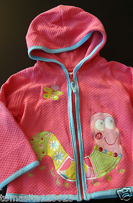 Hanna Andersson Pink Girls'  Sweater Infant Toddler Baby Child Size 80 12 24 M