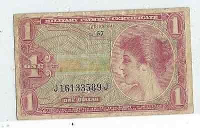 $1.00 One Dollar United States Military Payment Certificate  series 641