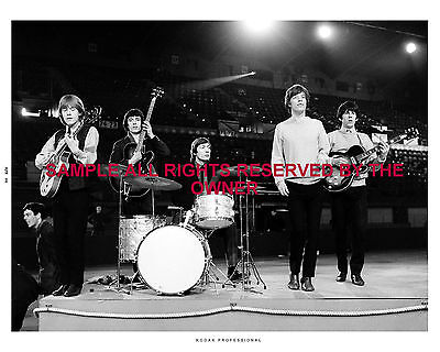 THE ROLLING STONES  PHOTO WITH BRIAN 1964 live show orig 8x10 Hi Qual PRO LAB BW