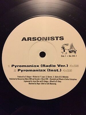 "Arsonists Pyromaniax In Your Town Hip Hop 12"" Vinyl"