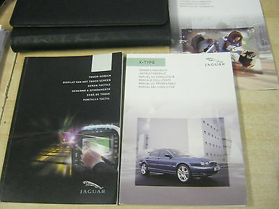JAGUAR X-TYPE OWNERS MANUAL HANDBOOK  2003-2007 and TOUCH SCREEN NAVIGATION