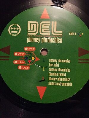 "Del The Funky Homosapien Phoney Phranchise Hip Hop 12"" Vinyl"