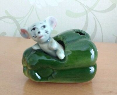 Vintage Mouse Figurine .Collectable. Made in Japan