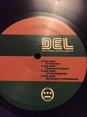 "Del The Funky Homosapien If You Must Hip Hop 12"" Vinyl"