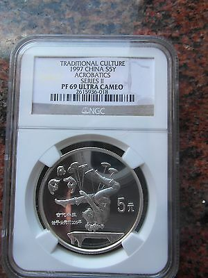 Traditional Culture  1997  China  S5Y  Acrobatics  Series Ii  Ngc  Pf  69