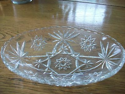 Vintage Early American Prescut Oval Bowl