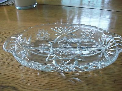 Vintage Early American Prescut Relish Dish