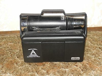 Black Stanley Aladdin thermos and lunch box