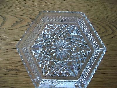 vintage Anchor Hocking depression glass Wexford crystal footed plate